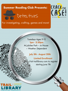 Detectives @ Jubilee Park/Trail Library