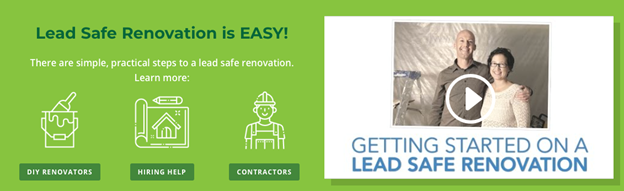 Planning a renovation? Ensure you and your family are lead safe