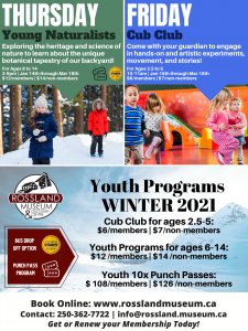 Young Naturalists (ages 8-14) - Rossland @ Rossland Museum & Discovery Centre