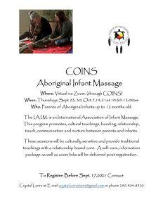 Aboriginal Infant Massage (0-12 Months) - Virtual @ Zoom