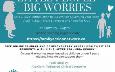 Free Big Worries Little People Workshop