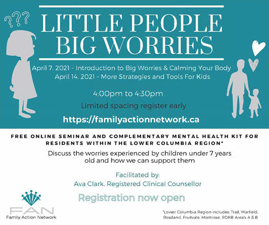 Free Big Worries Little People Workshop